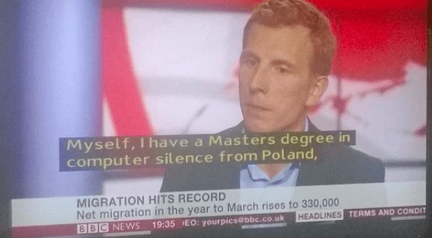subtitle fail in interview mistaking the word science for silence