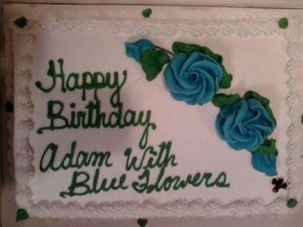 Cake - Happy Birthday adam Wi Blui Glevera