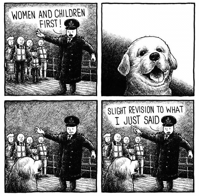 wholesome meme of letting dogs go before other people