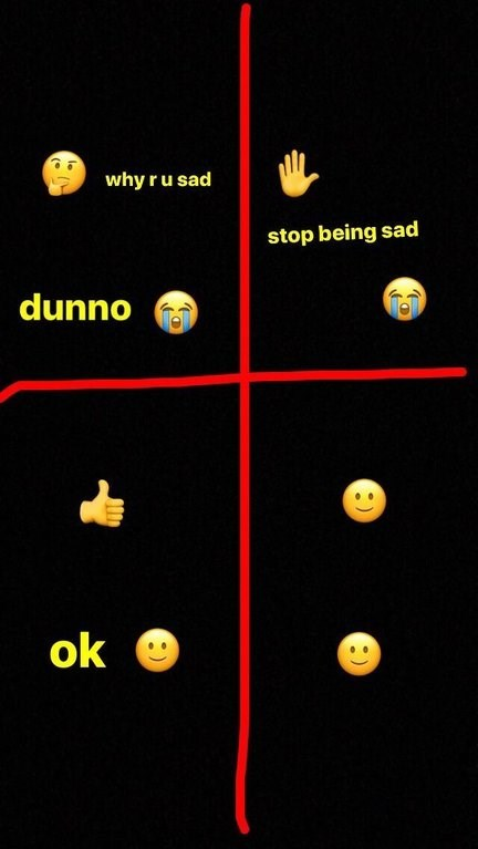 wholesome meme about not feeling sad