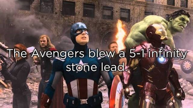 Action-adventure game - The Avengers blew a 5-infnity stone lead