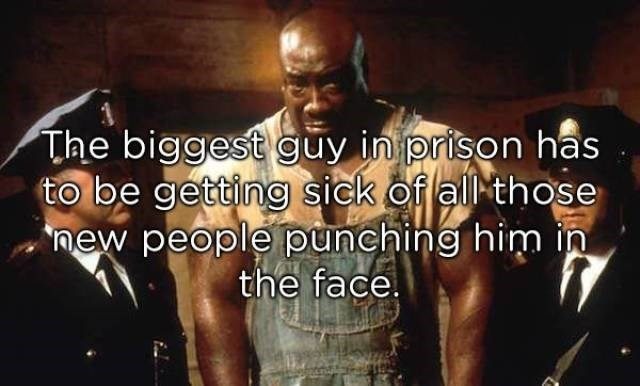Font - The biggest guy in prison has to be getting sick of all those new people punching him in the face.