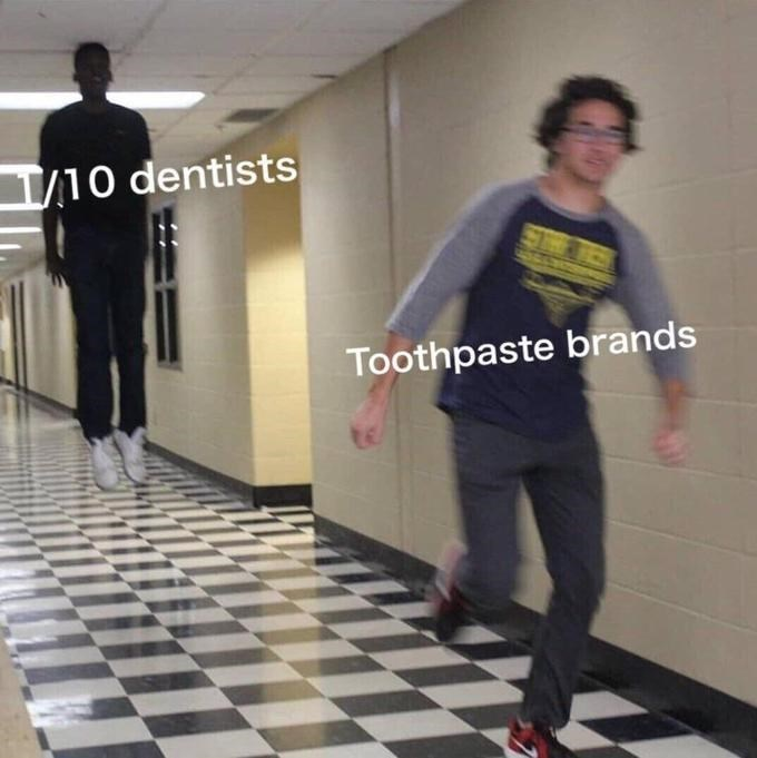 Clothing - /10 dentists Toothpaste brands