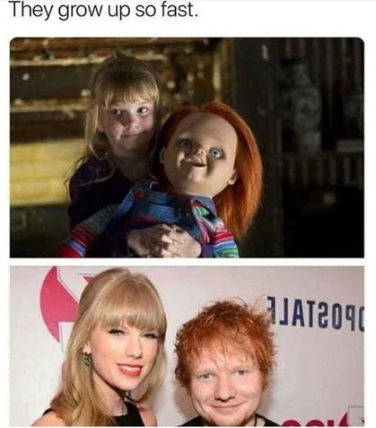 taylor swift meme - Hair - They grow up so fast.