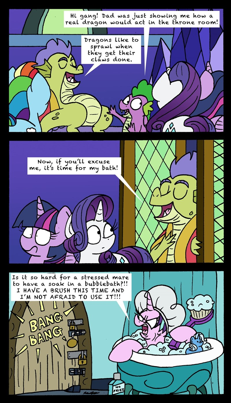 spike father knows beast bob the dalek sludge starlight glimmer twilight sparkle rarity comic - 9223394048