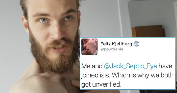 twitter pewdiepie youtube troll isis video games suspended - 922373