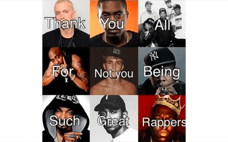 Facial expression - All CE Thank You For Not you Being Such Great Rappers