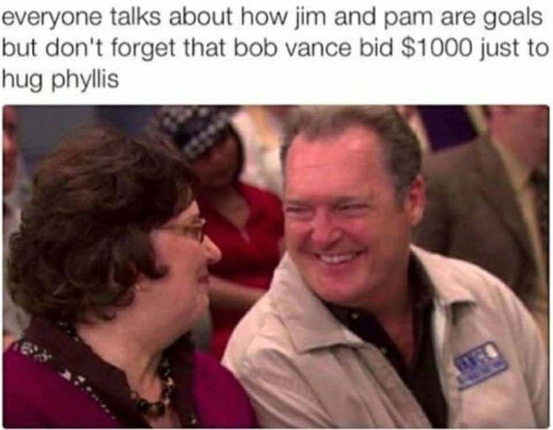 random The Office meme about Bob and Phyllis being a better couple than Jim and Pam