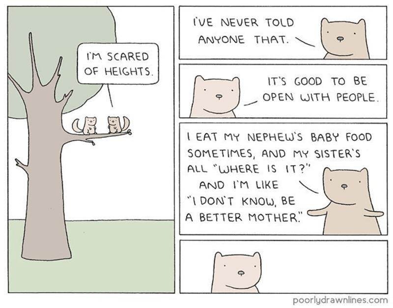 poorly drawn lines secrets squirrels comic funny - 9223911680