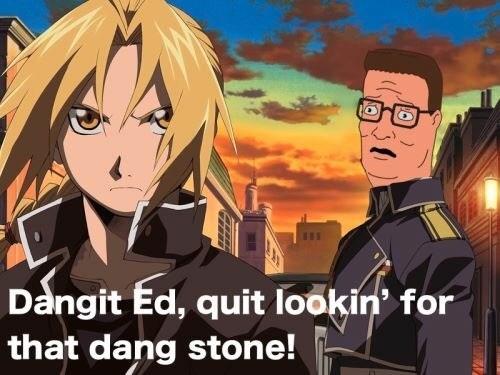 weird meme - Cartoon - Dangit Ed, quit lookin' for that dang stone!