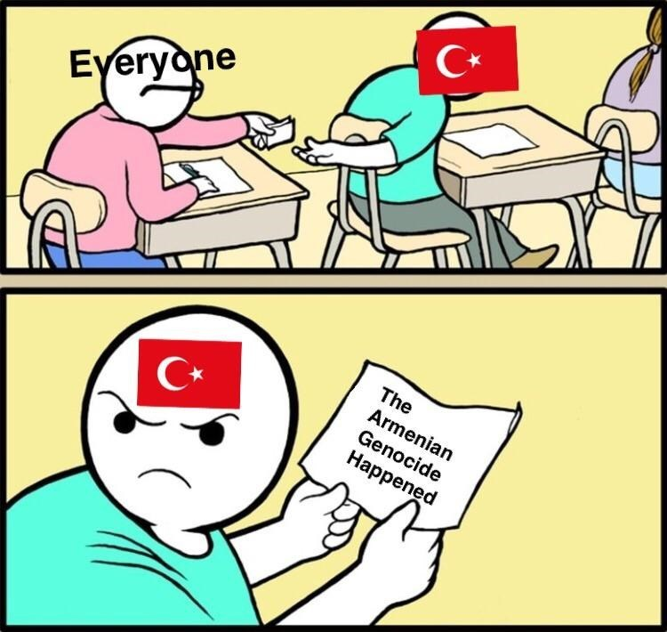 meme about Turkey denying the Armenian genocide