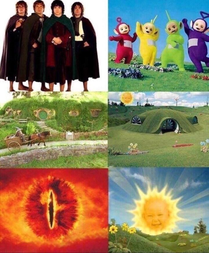 fictional characters multi panel meme