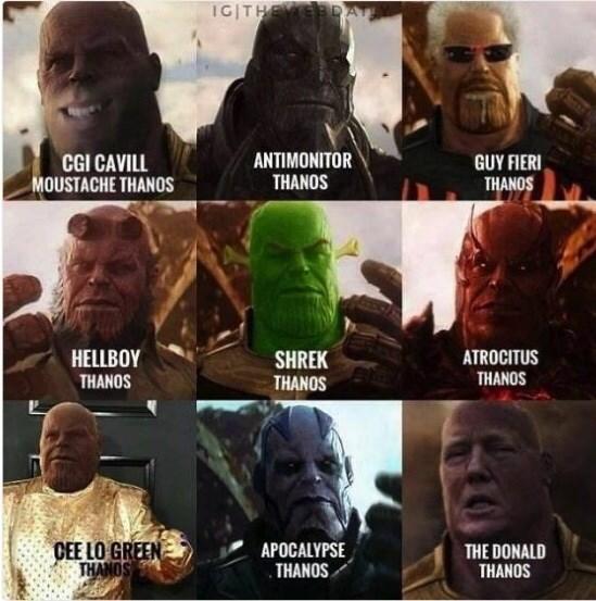 Thanos alignment chart parody