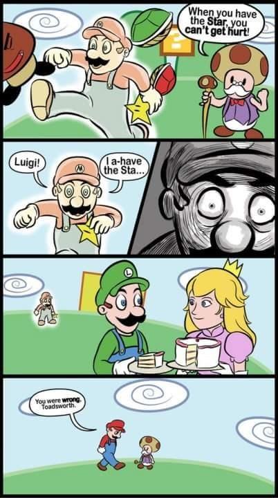 mario and luigi 4 panel webcomic meme