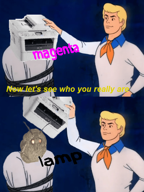 dank meme - Cartoon - magenta Now let's see who you really are lamp