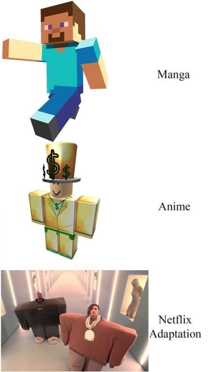 dank meme - Cartoon - Manga Anime Netflix Adaptation