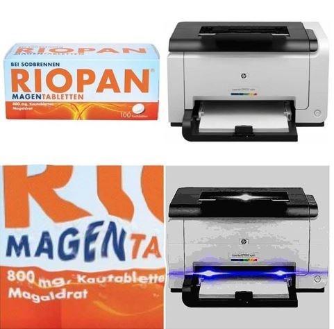 Printer Meme and ordering magenta with Riopan medicine