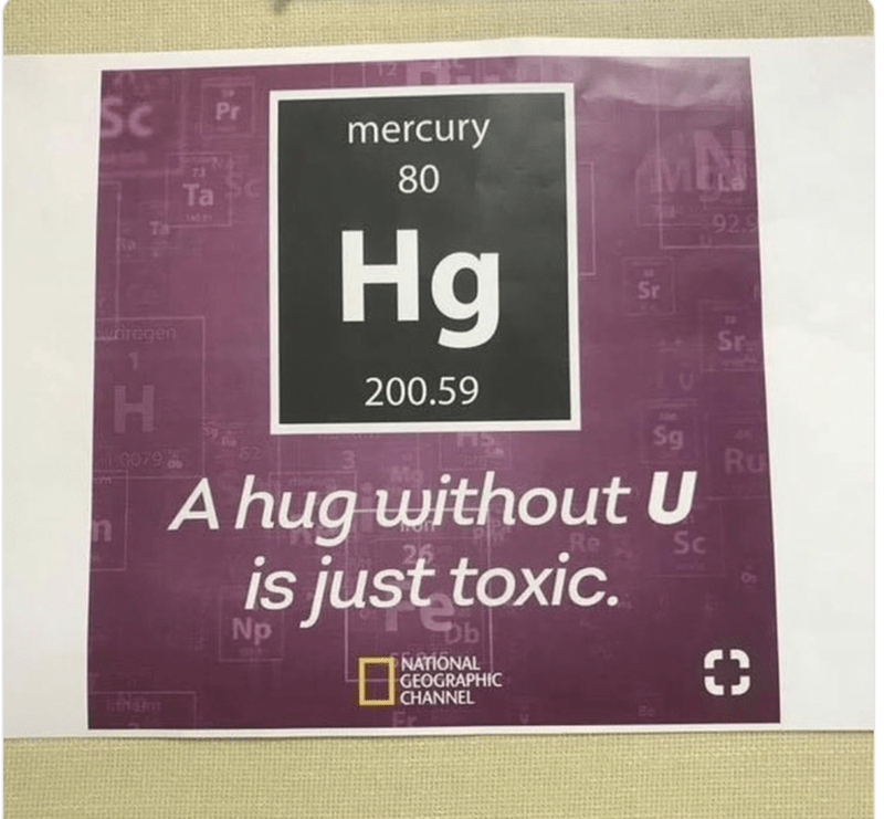 happy meme with a chemistry pun