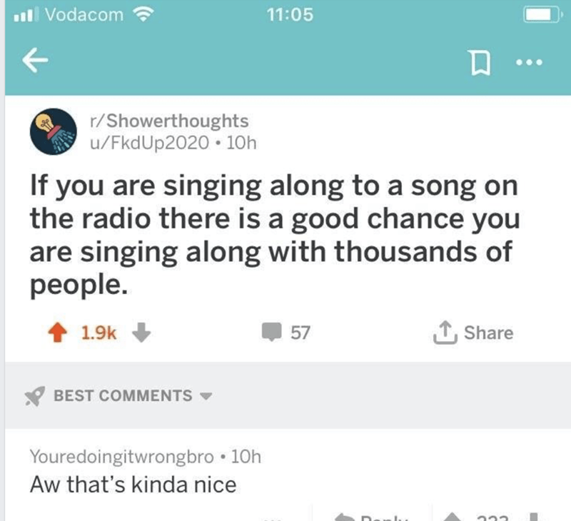 happy meme about singing along to the radio