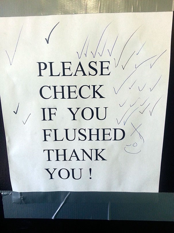 Font - PLEASE CHECK IF YOU FLUSHED THANK YOU!