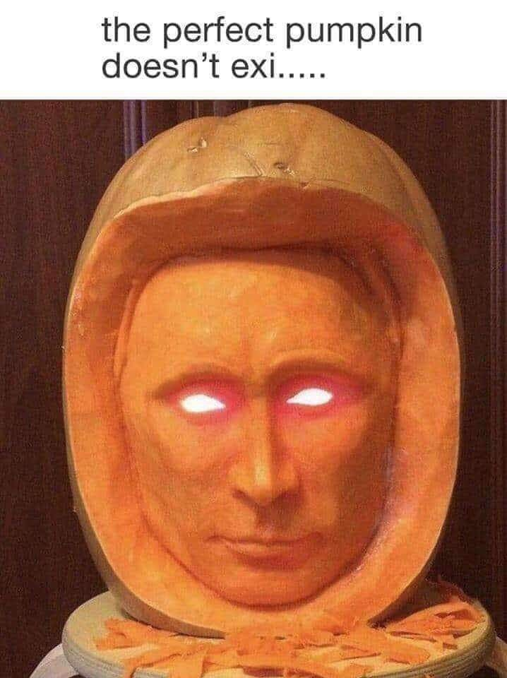 Face - the perfect pumpkin doesn't exi.....