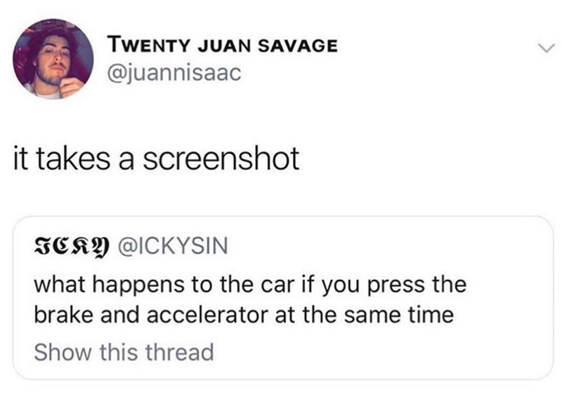humpday meme about taking a screenshot of the car