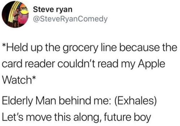 humpday meme about being too futuristic for the grocery store