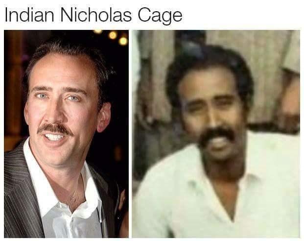 Doppelganger Indian Nicholas Cage