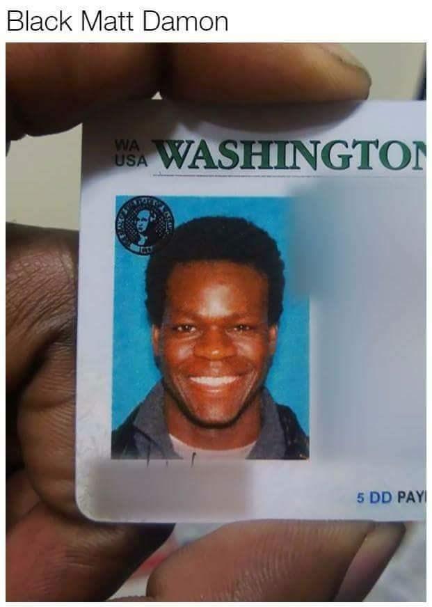 Black Matt Damon doppelganger