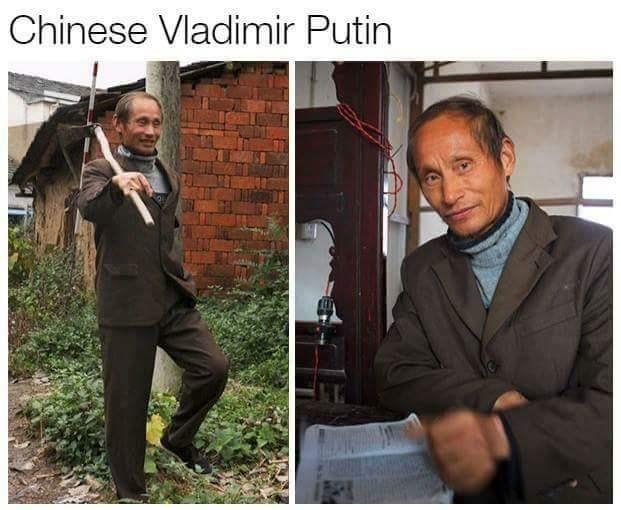 Doppelganger of Vladimir Putin in China