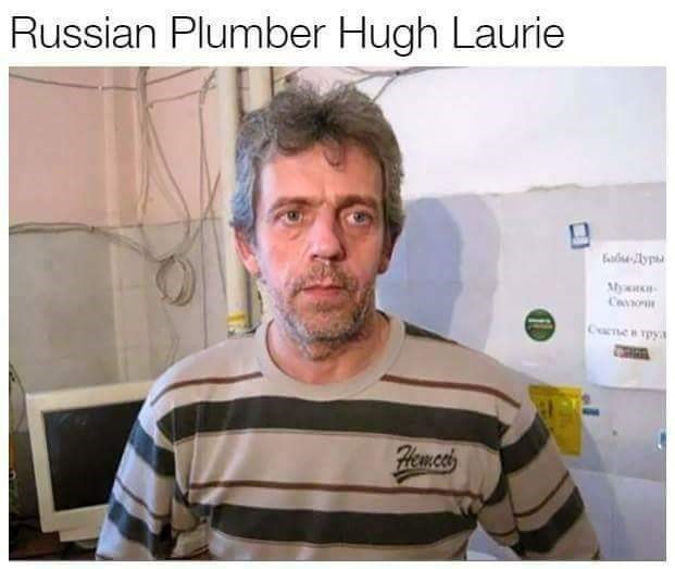 Dr. House Doppelganger of a Russian Hugh Laurie
