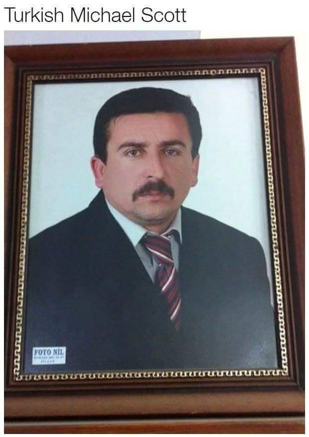 Doppelganger of Michael Scott from Turkey