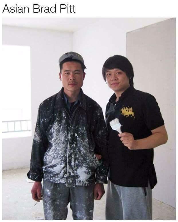 Doppelganger of Brad Pitt but Asian