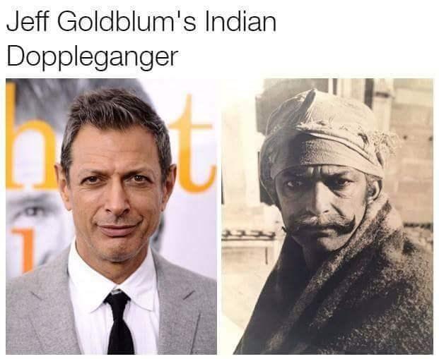Doppelganger Jeff Goldblum Indian