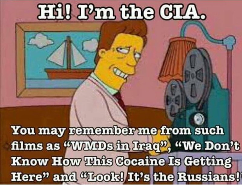 Simpson's meme of you CIA and you might remember me from movies like