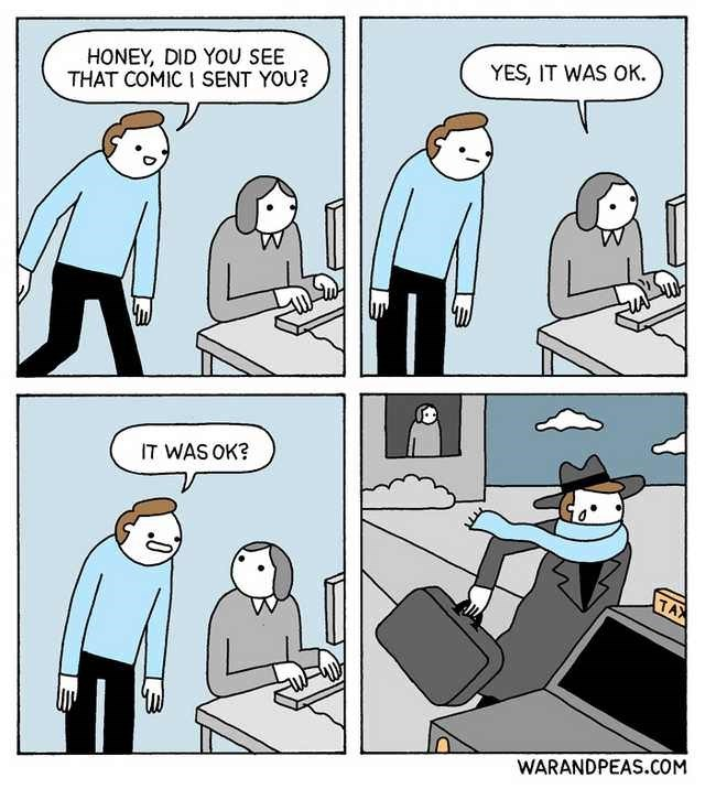 webcomic about leaving someone when they didn't like the meme you sent them