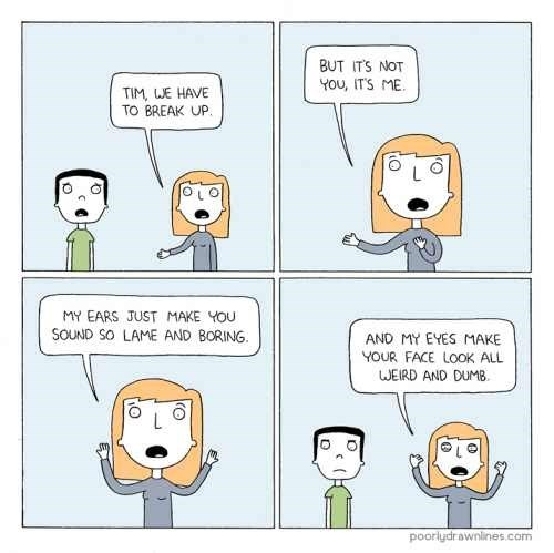 webcomic about breaking up and blaming it on yourself