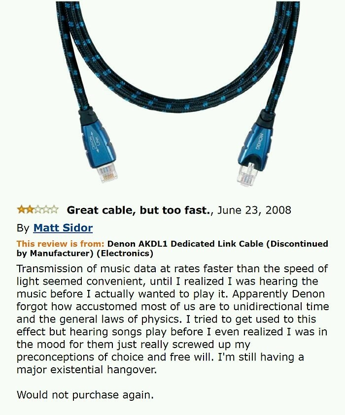 amazon review of a cable