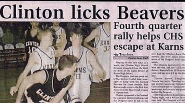 Clinton licks Beavers Fourth quarter rally helps CHS KAR 3 escape at Karns CUNTON Dr T Plaing he E The Drp ng 134 VAR Devgs ed the fetih te e d f he ight day a ANS 44 The D jt of he Dii A Ciee tin Cty t T y Beve the CLIN bind the De pt Tridey ig t e rag