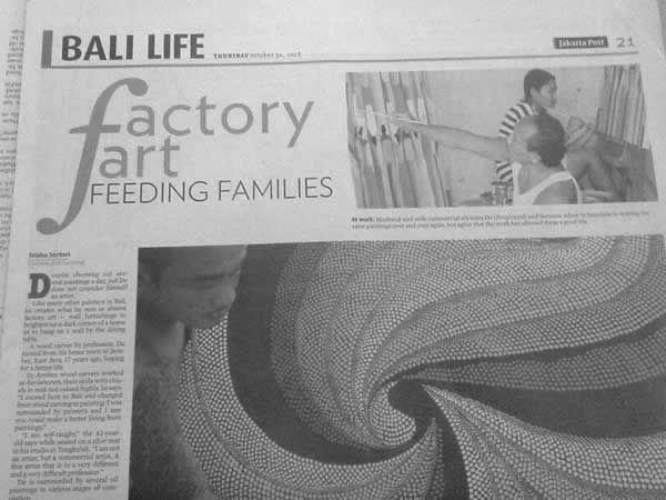 Newsprint - BALI LIFE Lakarts P 21 THRIRAYtiber Cactory art FEEDING FAMILIES Mok erte ln e