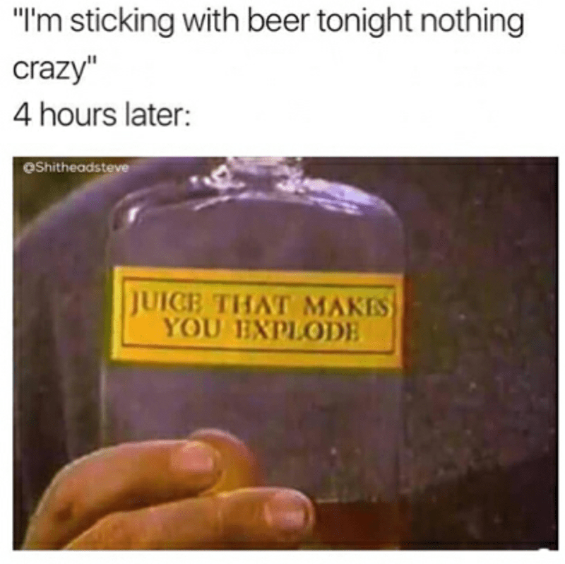meme about going out drinking