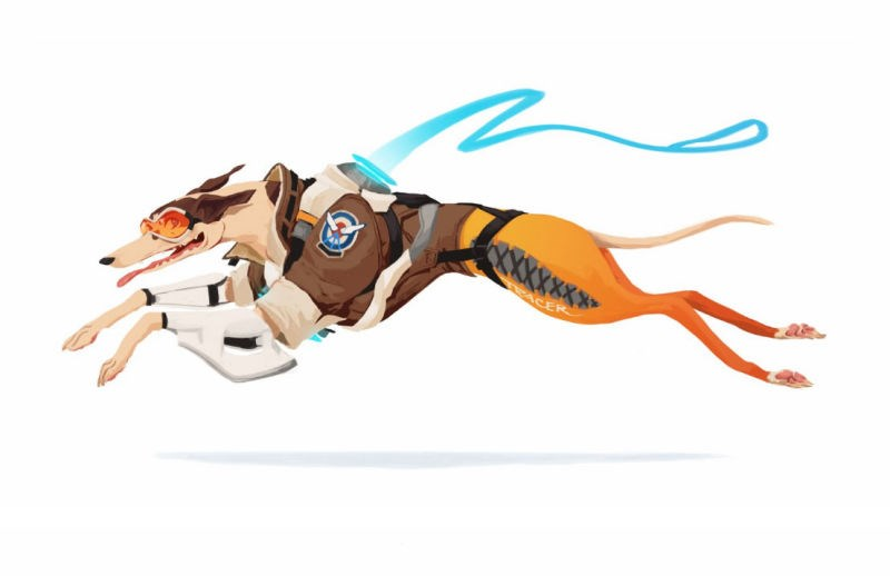 overwatch blizzard Fan Art video games animals