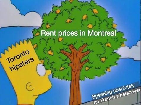 Arbor day - Rent prices in Montreal Toronto hipsters Speaking absolutely no French whatsoever WE