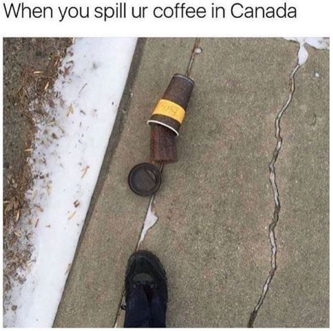 Wire - When you spill ur coffee in Canada