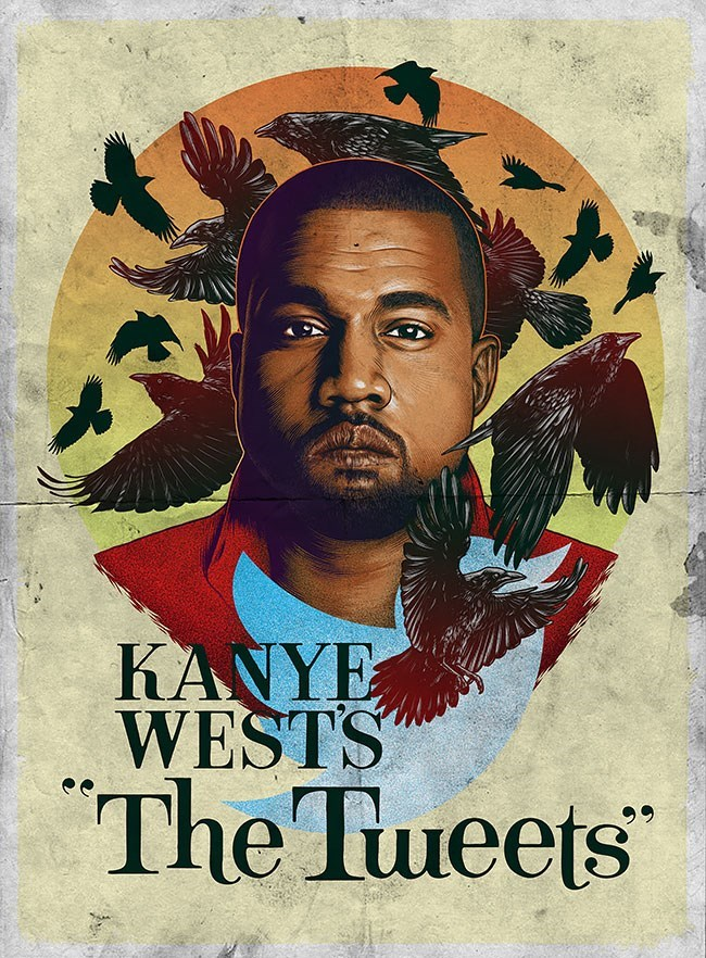 Poster - KANYE WESTS The Tueets