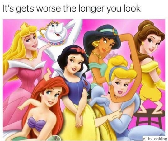 disney princess caricature that gets worse the longer you look