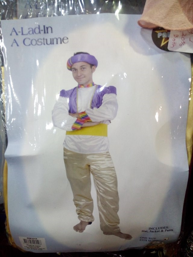 Art - A-Lad-In A Costume Ph INCLUDES: Hat, Jacket & Pants ONE SIZE FITS Ma s510 W 0% Both