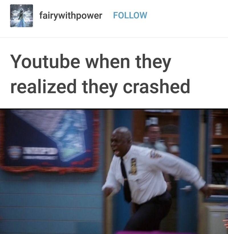 Text - fairywithpower FOLLOW Youtube when they realized they crashed