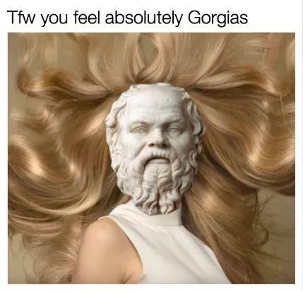 meme - Hair - Tfw you feel absolutely Gorgias