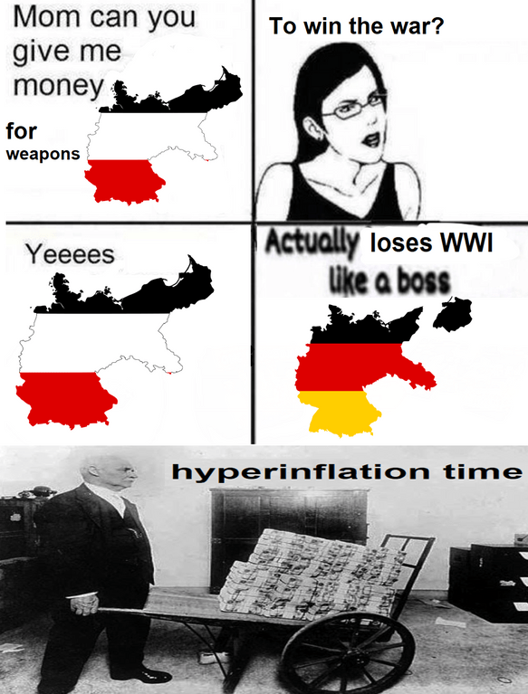dank meme about losing war and winning war and hyper inflation